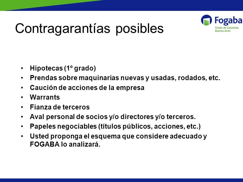 Contragarantías posibles