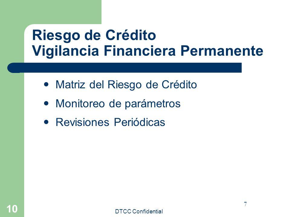 Riesgo de Crédito Vigilancia Financiera Permanente