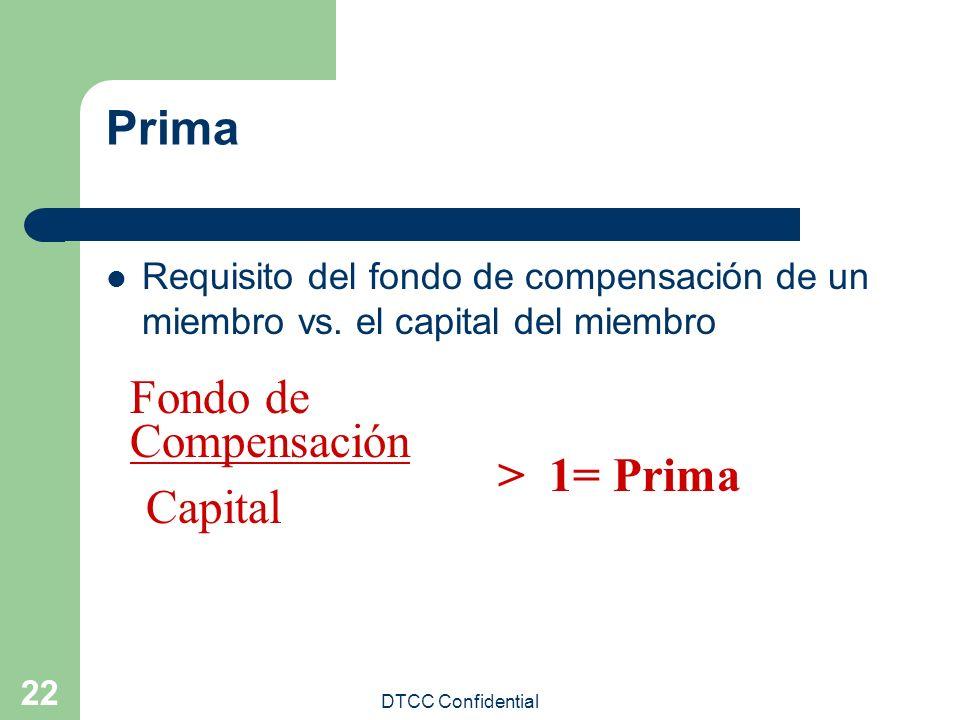 Prima Fondo de Compensación > 1= Prima Capital