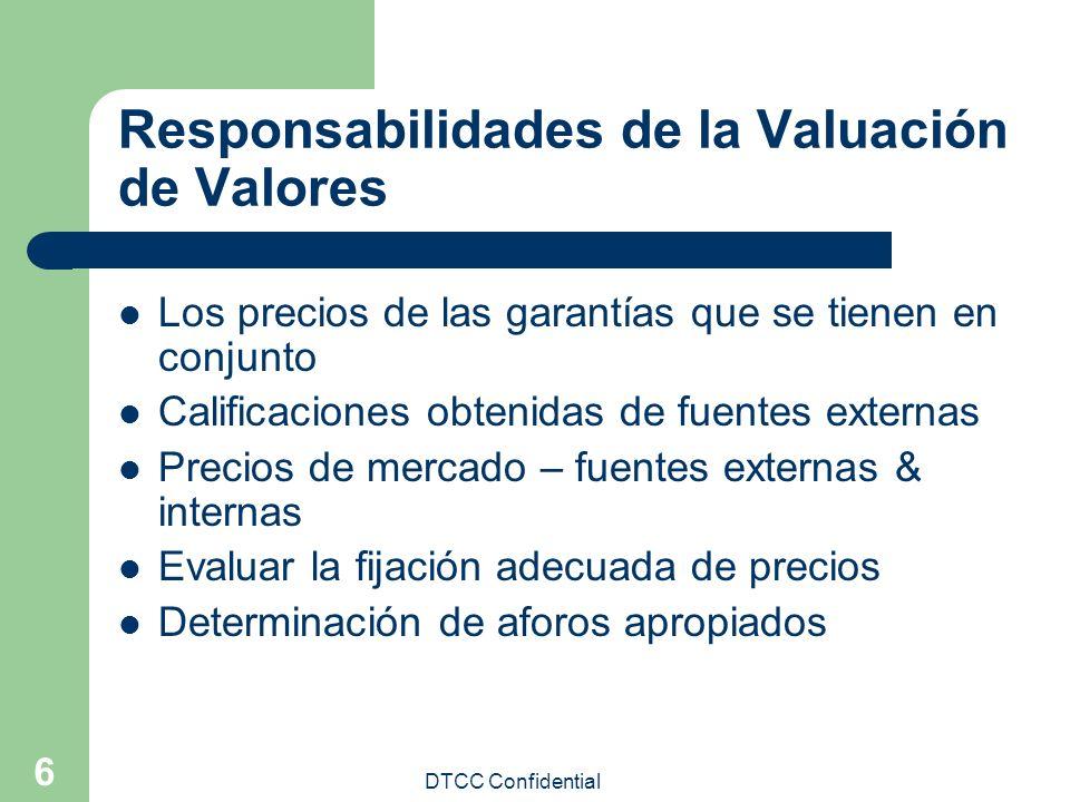 Responsabilidades de la Valuación de Valores