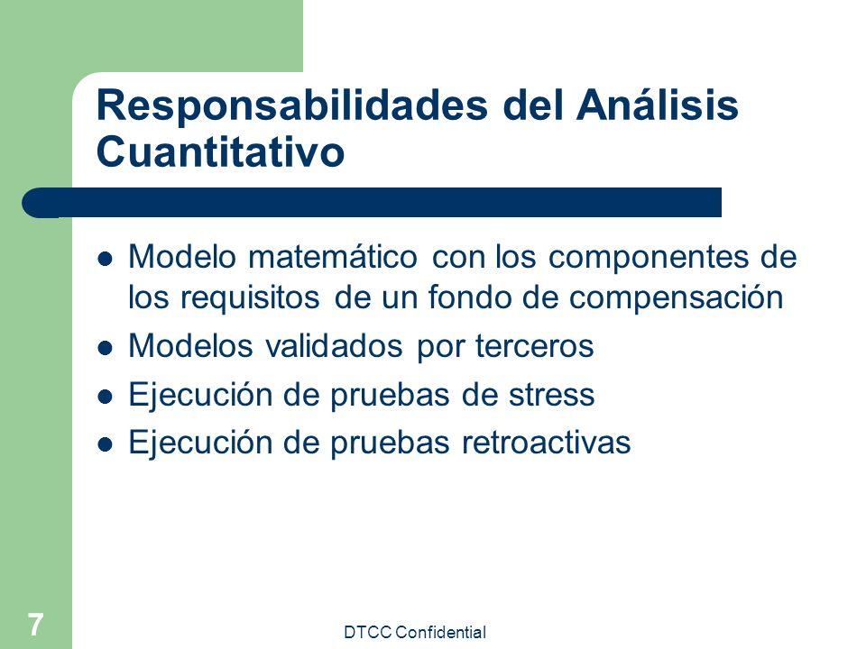 Responsabilidades del Análisis Cuantitativo