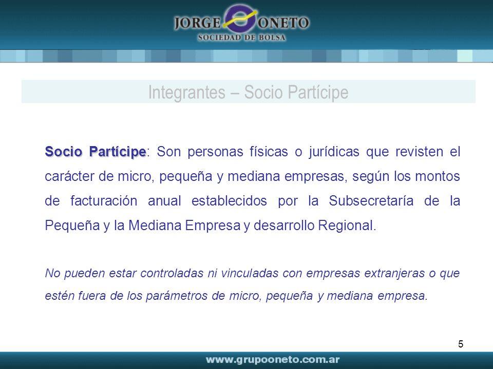 Integrantes – Socio Partícipe