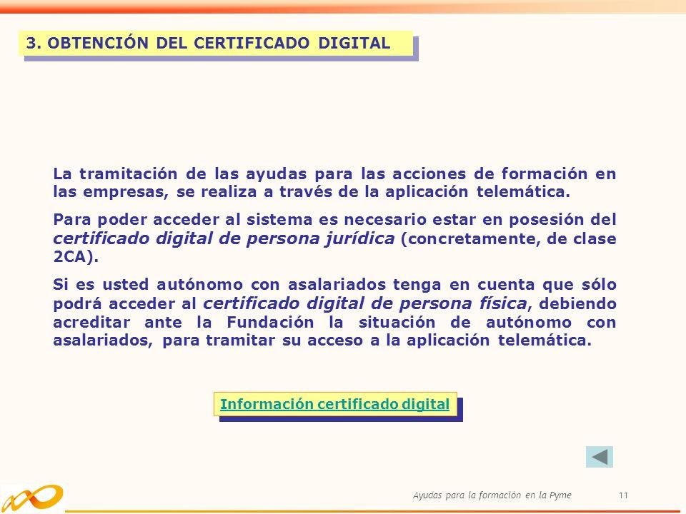 Información certificado digital