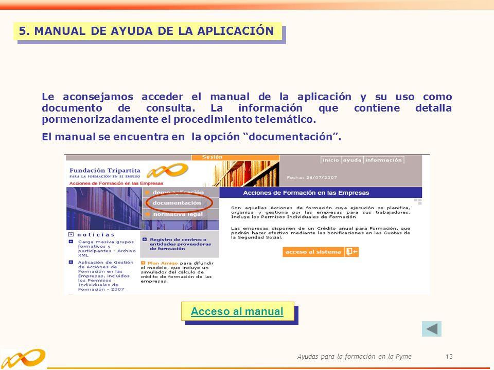 5. MANUAL DE AYUDA DE LA APLICACIÓN