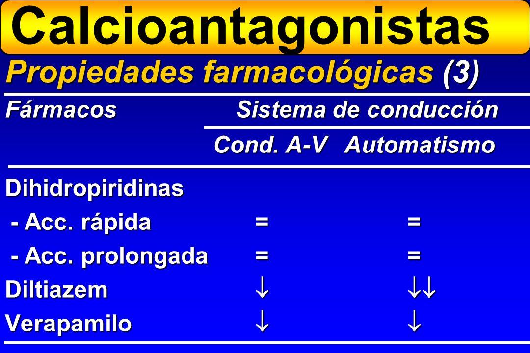 Calcioantagonistas Propiedades farmacológicas (3)