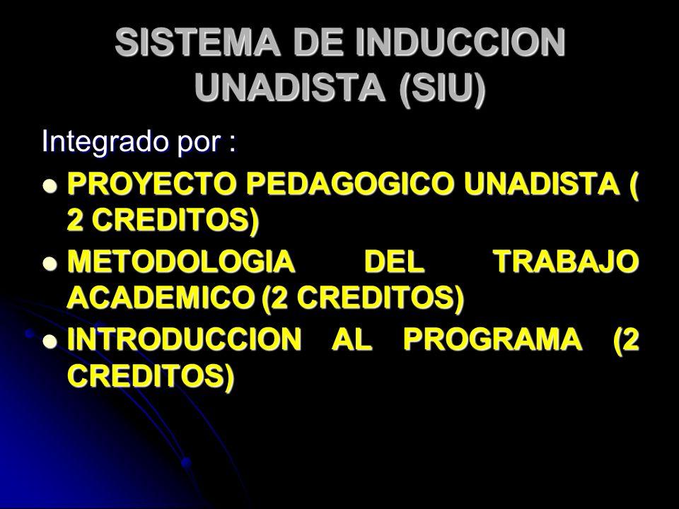 SISTEMA DE INDUCCION UNADISTA (SIU)