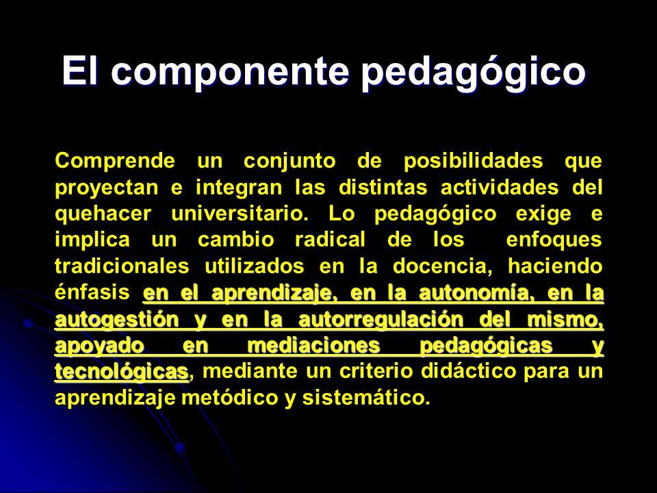 El componente pedagógico