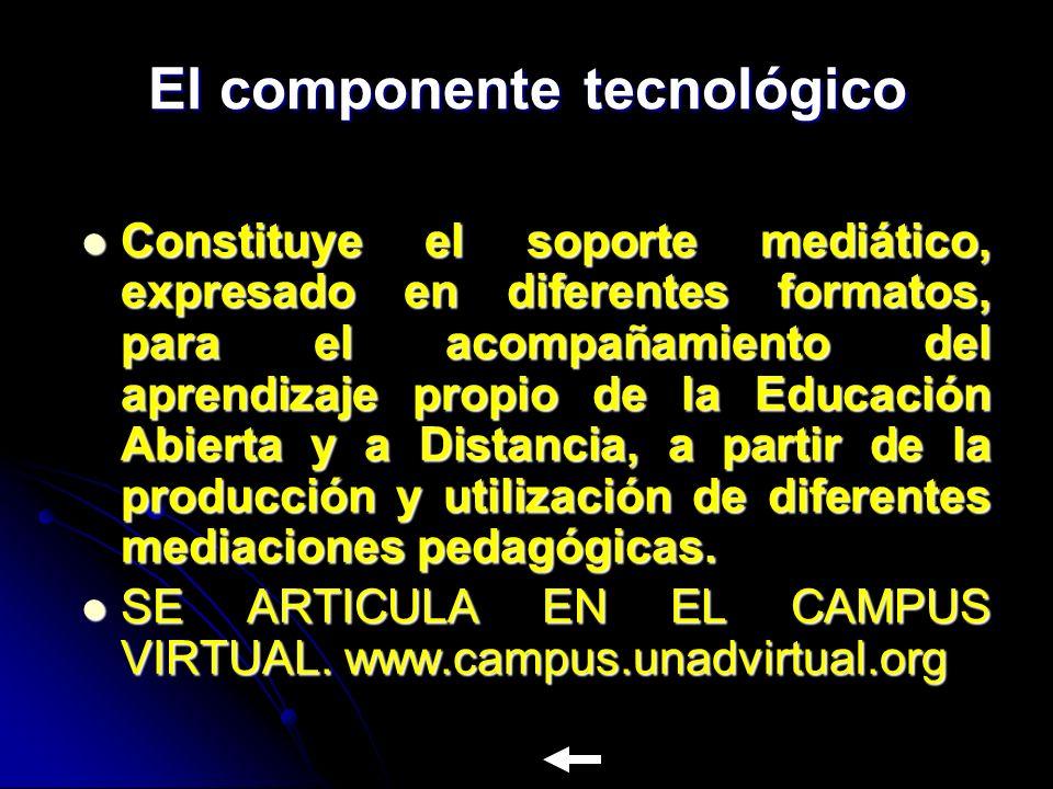 El componente tecnológico