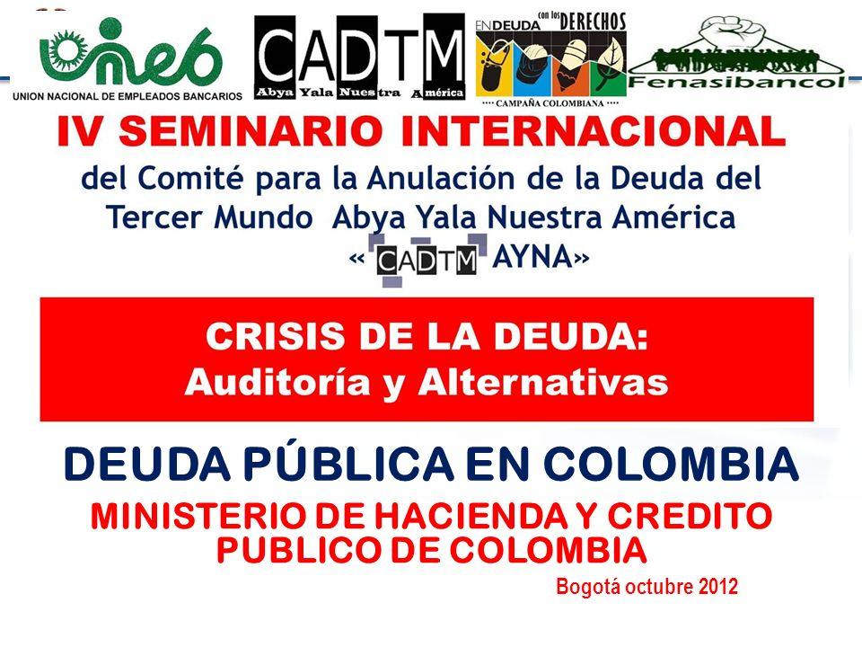 DEUDA PÚBLICA EN COLOMBIA