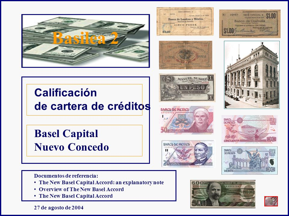 Basilea 2 Calificación de cartera de créditos Basel Capital