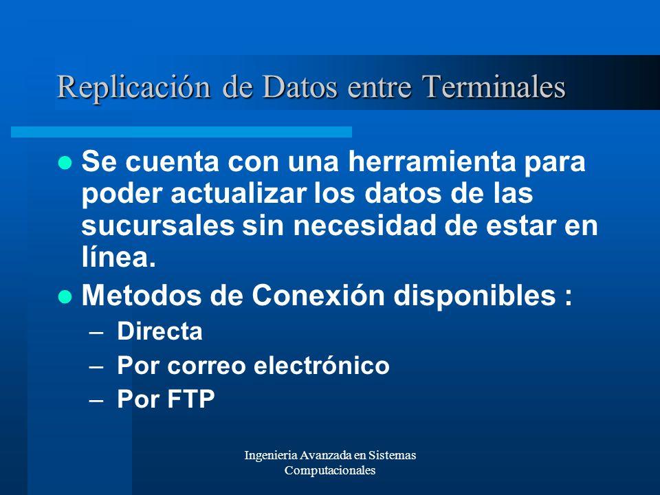 Replicación de Datos entre Terminales