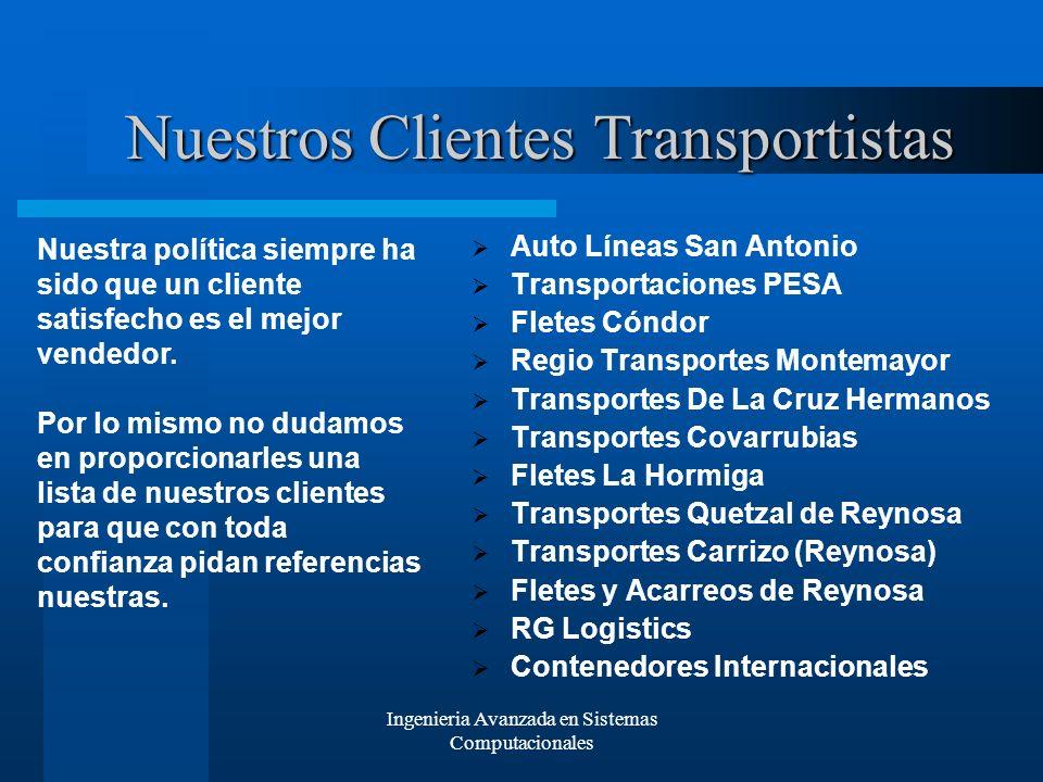 Nuestros Clientes Transportistas