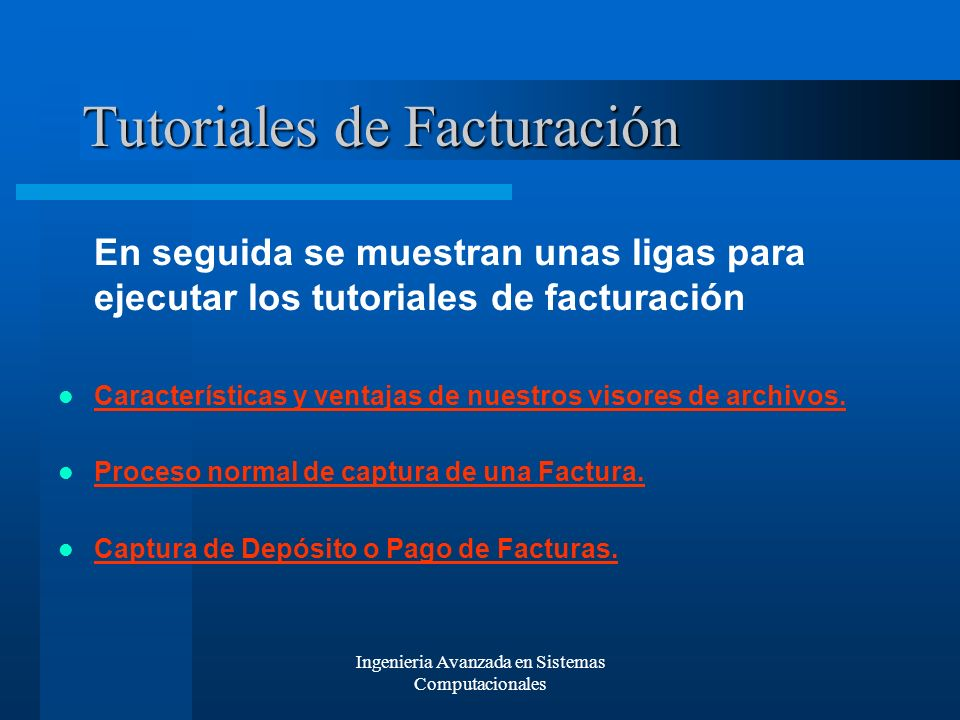 Tutoriales de Facturación