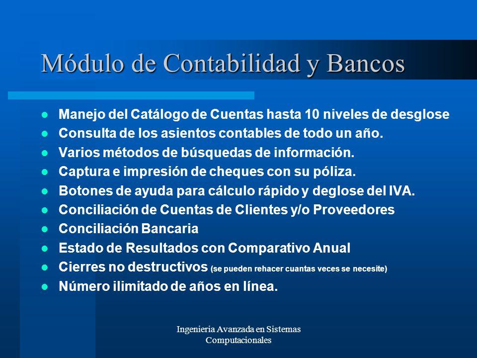 Módulo de Contabilidad y Bancos