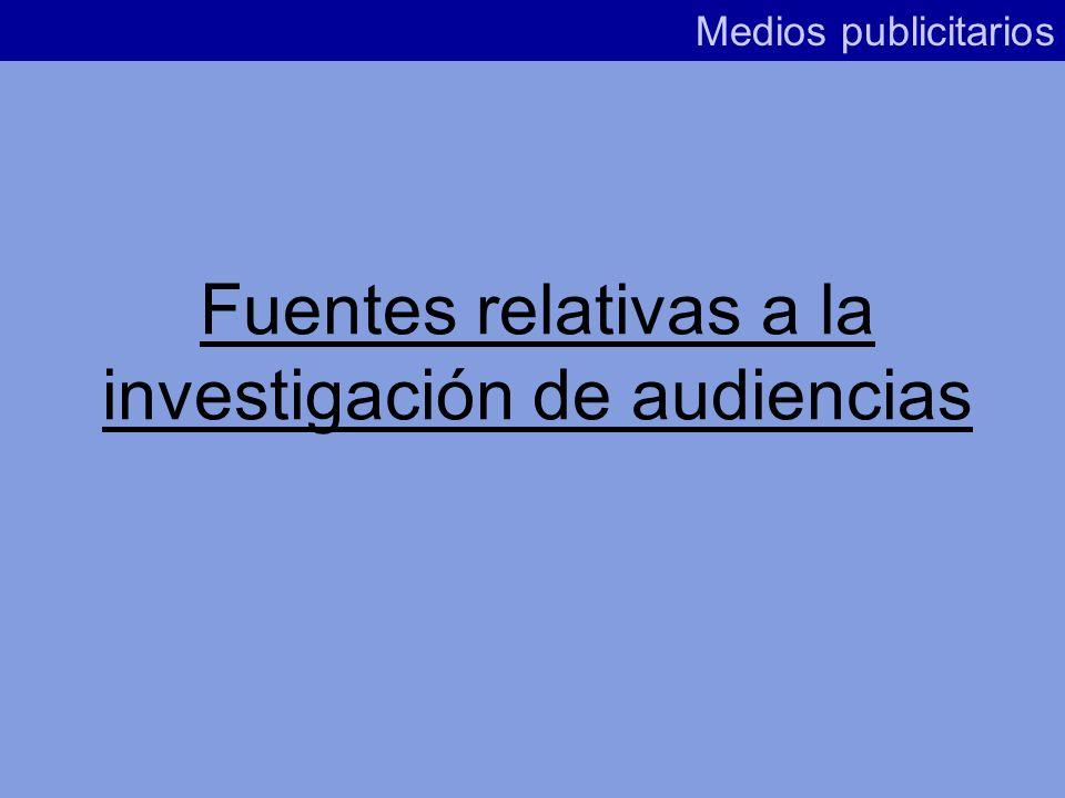 Fuentes relativas a la investigación de audiencias