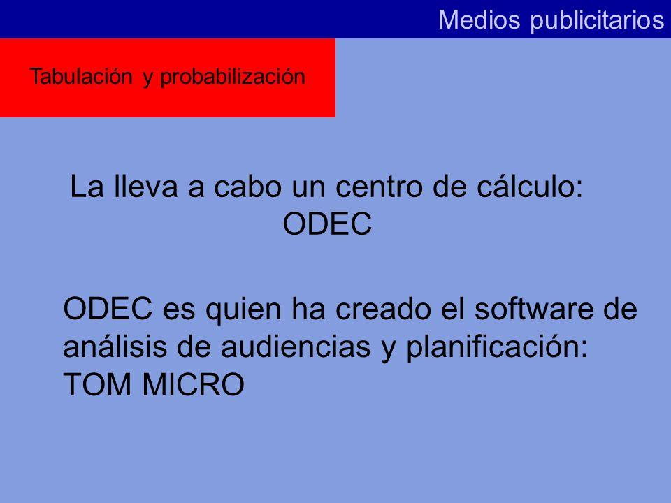 La lleva a cabo un centro de cálculo: ODEC