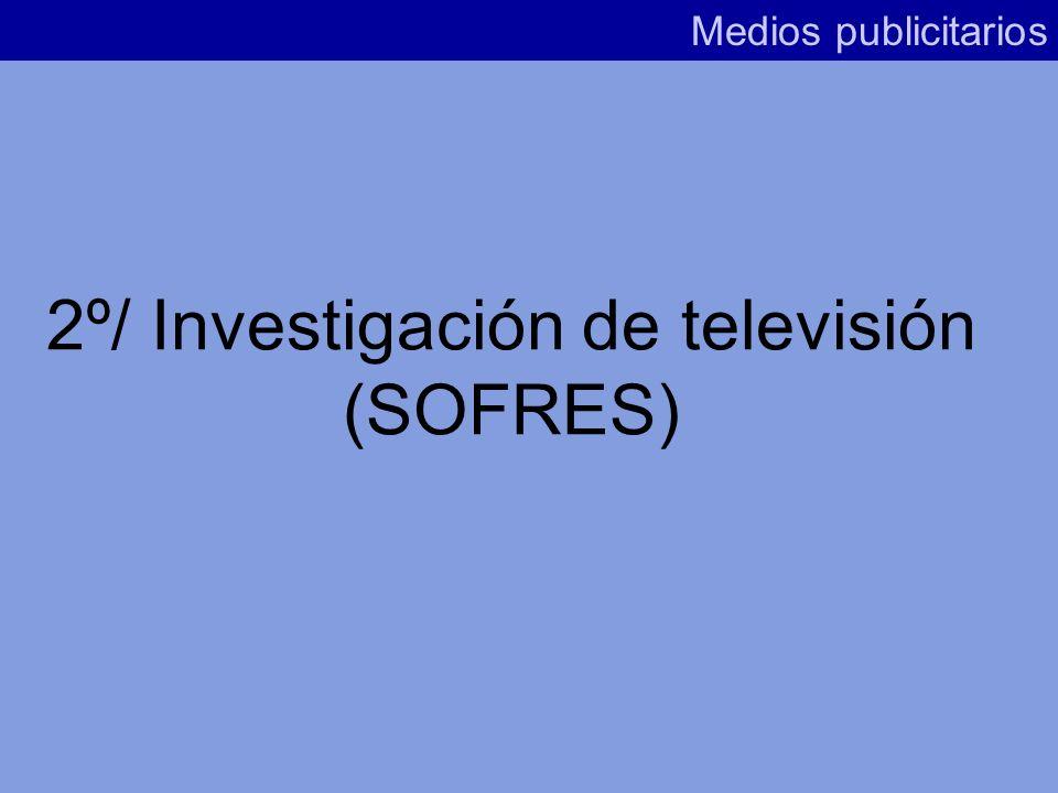 2º/ Investigación de televisión (SOFRES)