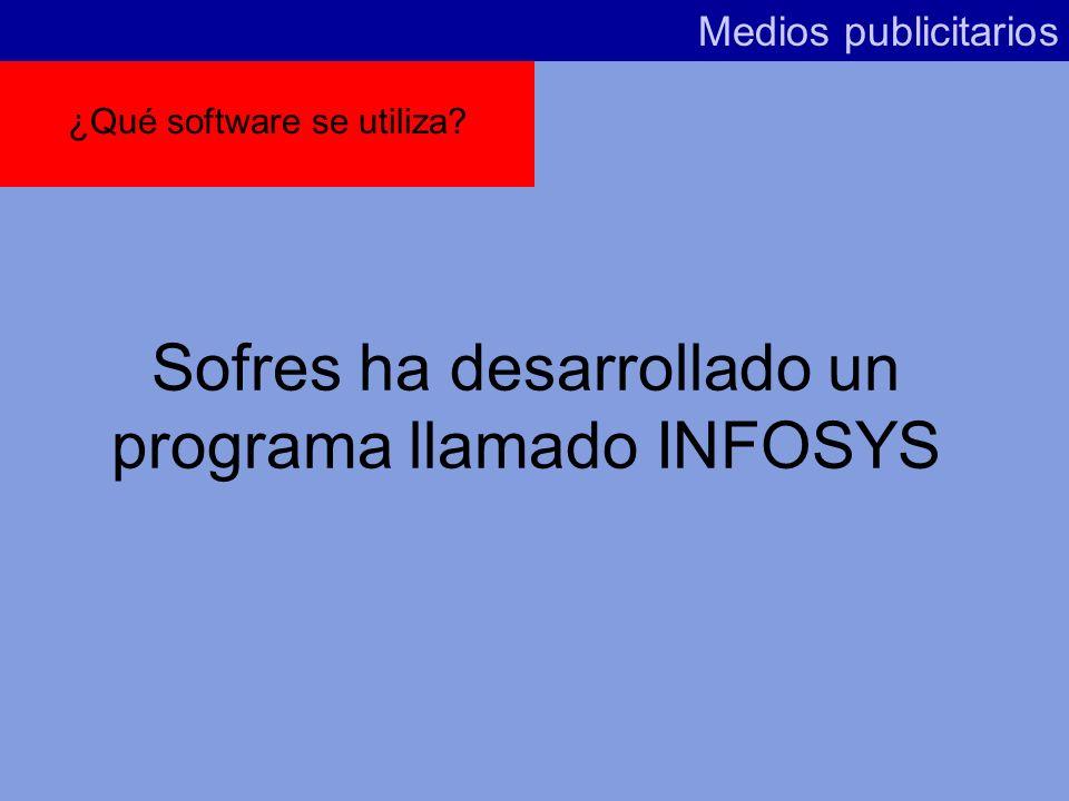 Sofres ha desarrollado un programa llamado INFOSYS