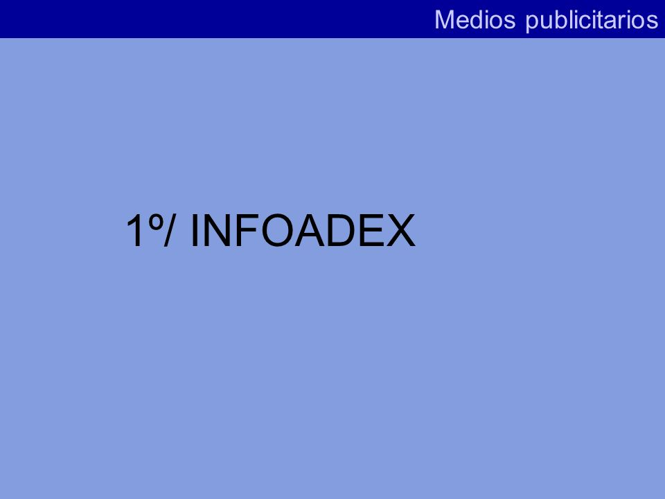 Medios publicitarios 1º/ INFOADEX