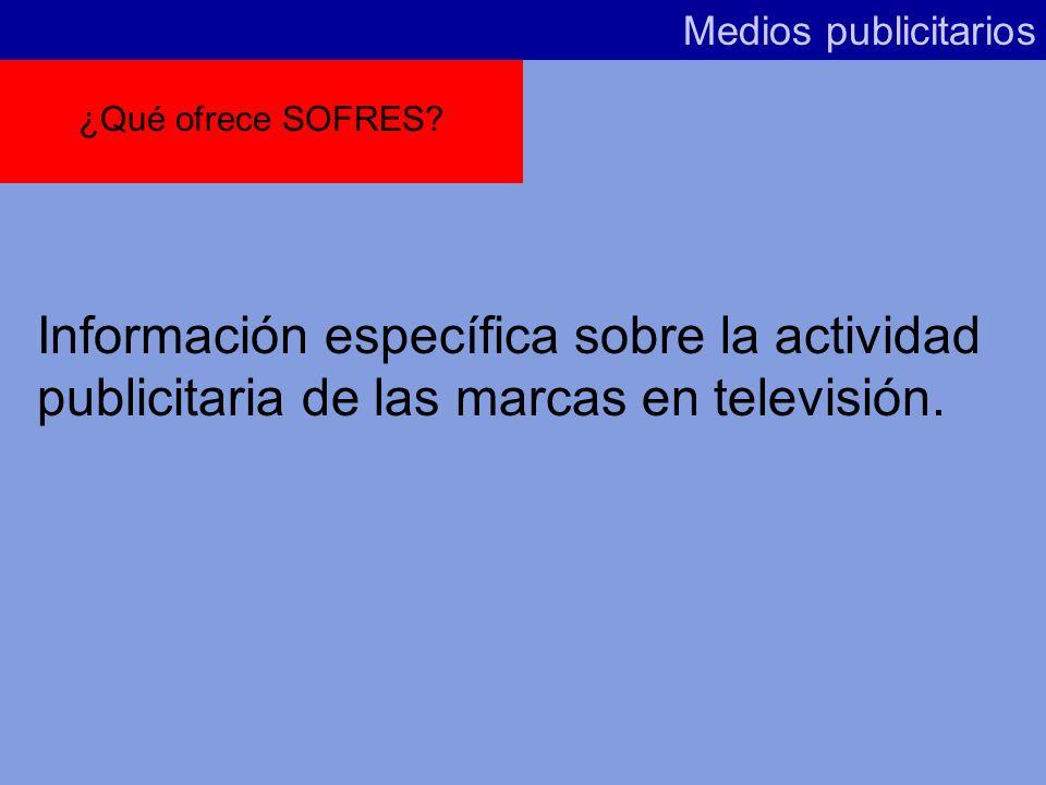 Medios publicitarios ¿Qué ofrece SOFRES.