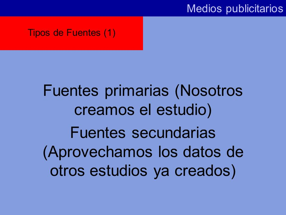 Fuentes primarias (Nosotros creamos el estudio)