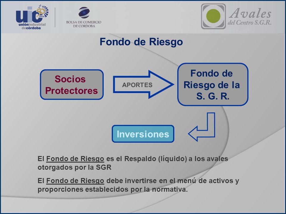 Fondo de Riesgo Fondo de Socios Riesgo de la Protectores S. G. R.