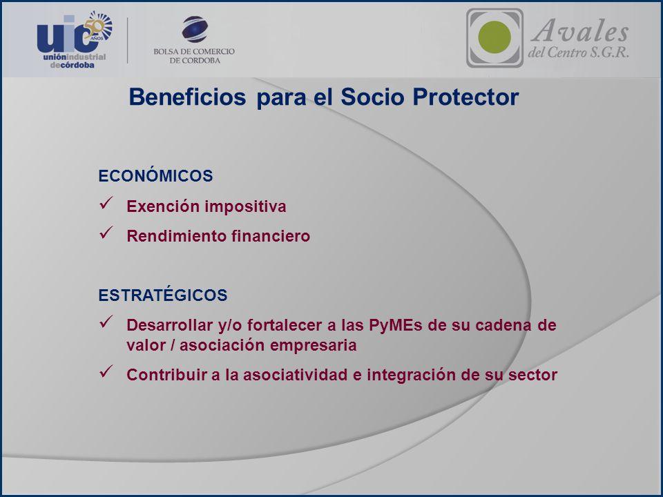 Beneficios para el Socio Protector