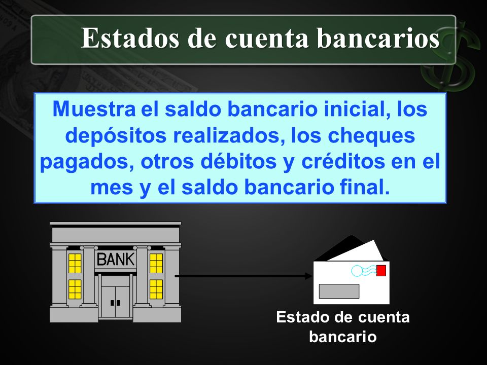 Estados de cuenta bancarios