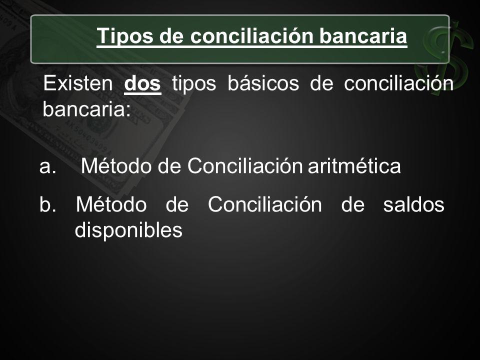 Tipos de conciliación bancaria