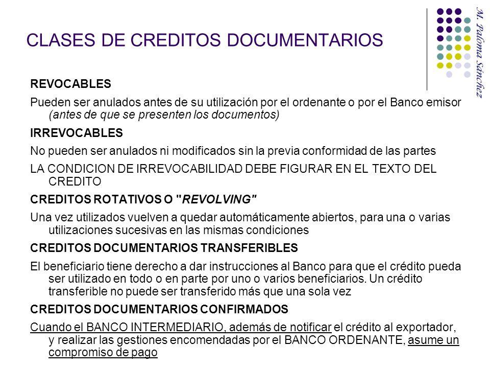 CLASES DE CREDITOS DOCUMENTARIOS