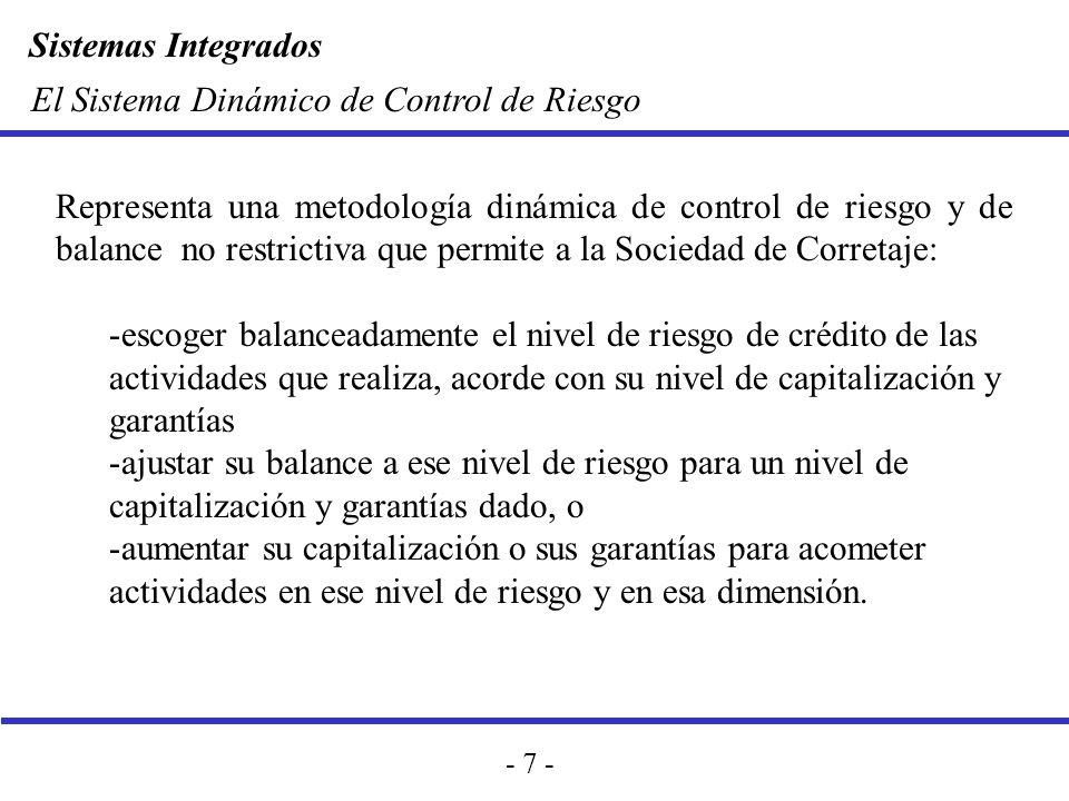 El Sistema Dinámico de Control de Riesgo