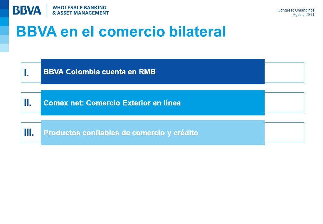 BBVA en el comercio bilateral