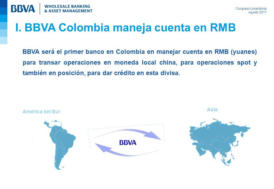 I. BBVA Colombia maneja cuenta en RMB