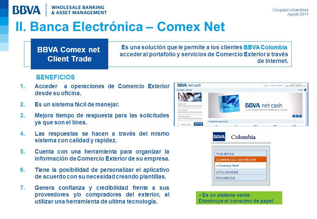 II. Banca Electrónica – Comex Net