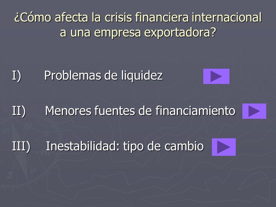 ¿Cómo afecta la crisis financiera internacional a una empresa exportadora