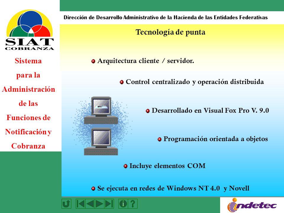 Tecnología de punta Arquitectura cliente / servidor.