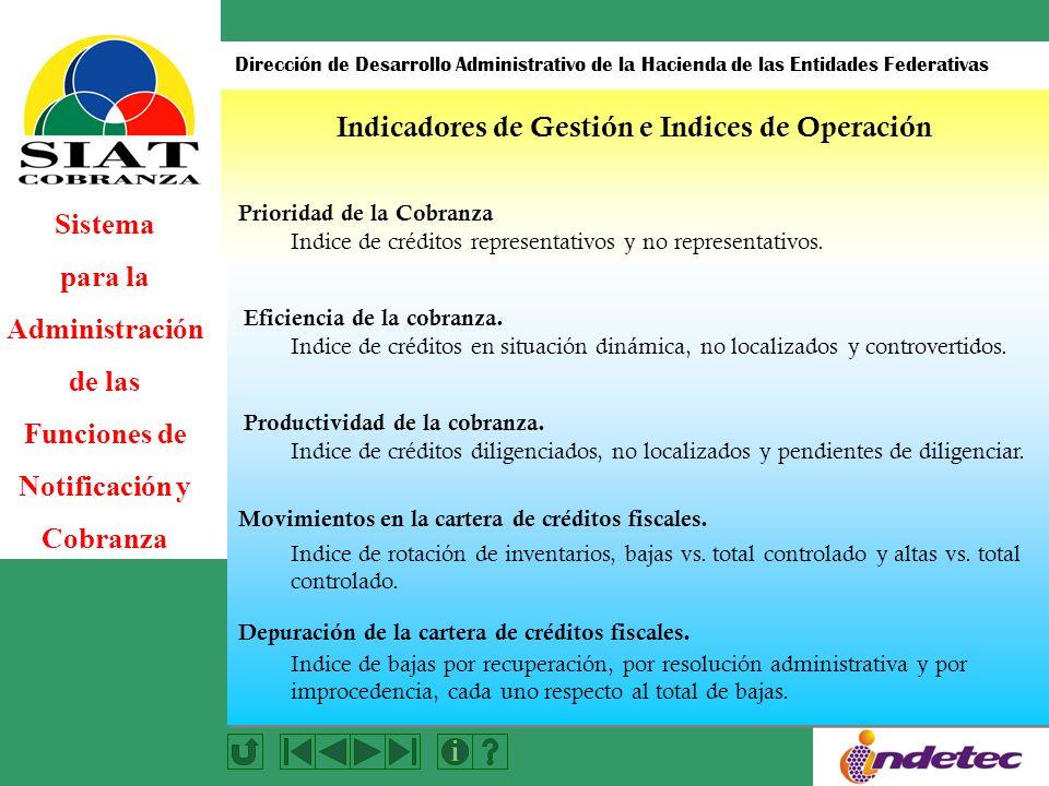 Indicadores de Gestión e Indices de Operación