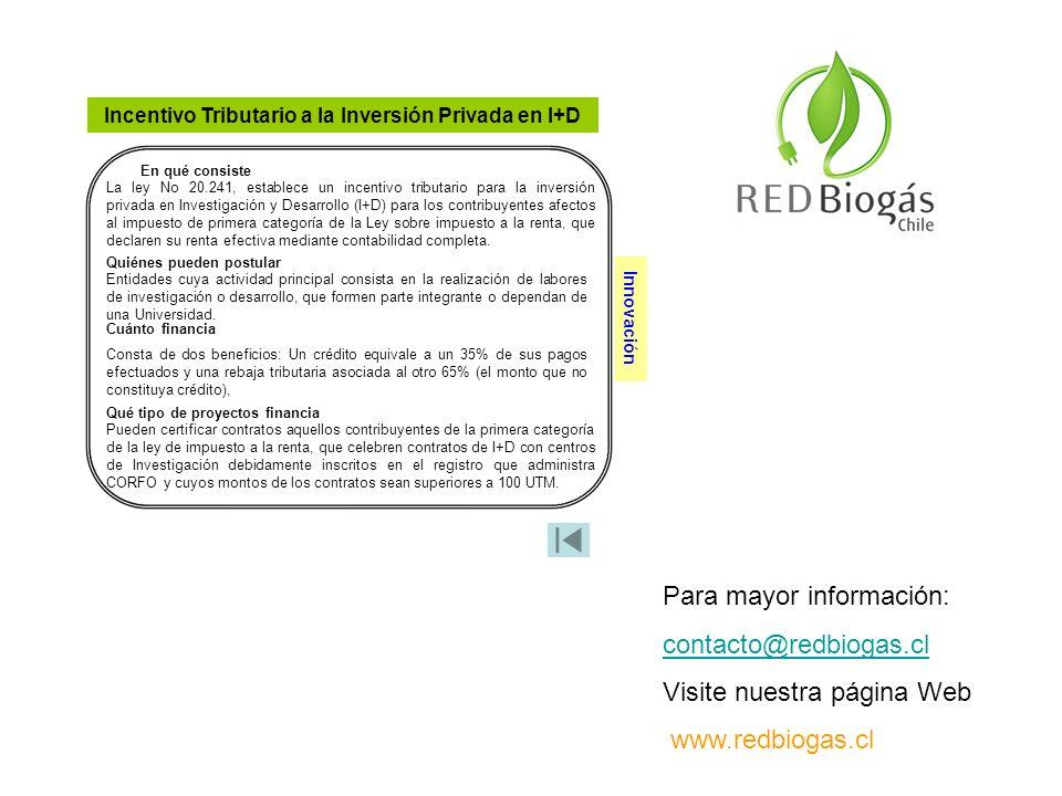 Incentivo Tributario a la Inversión Privada en I+D