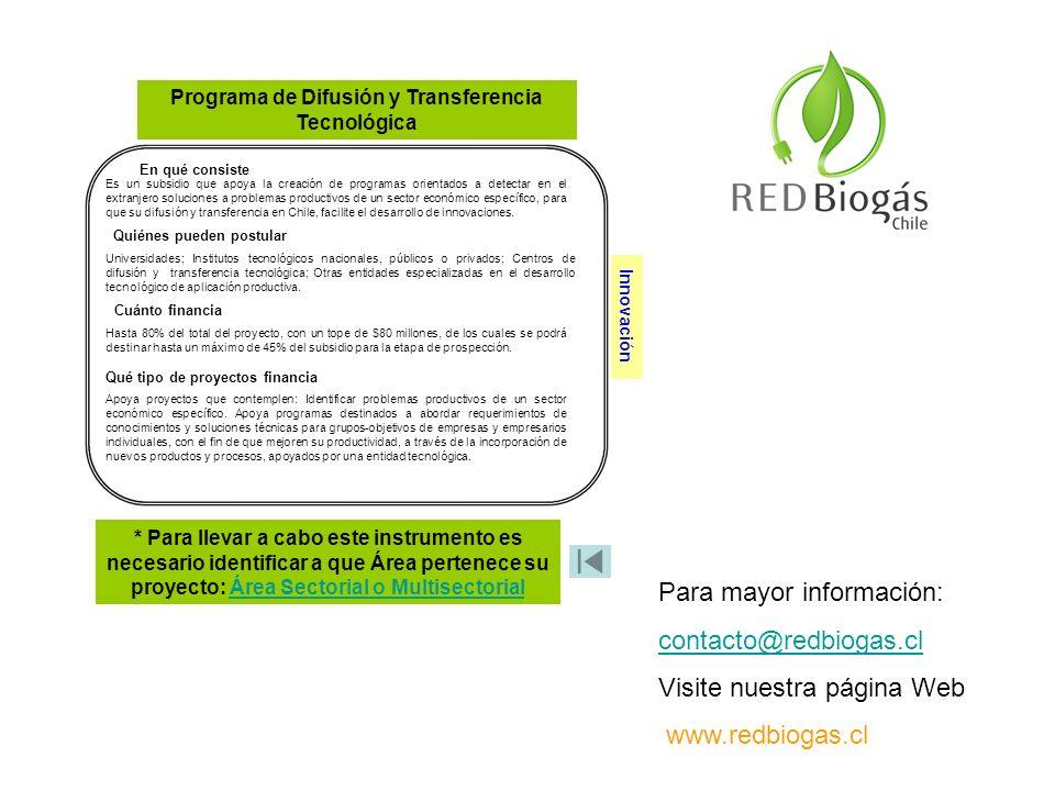 Programa de Difusión y Transferencia Tecnológica