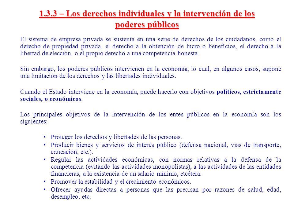 1.3.3 – Los derechos individuales y la intervención de los poderes públicos