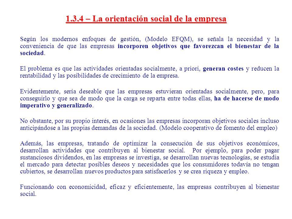 1.3.4 – La orientación social de la empresa