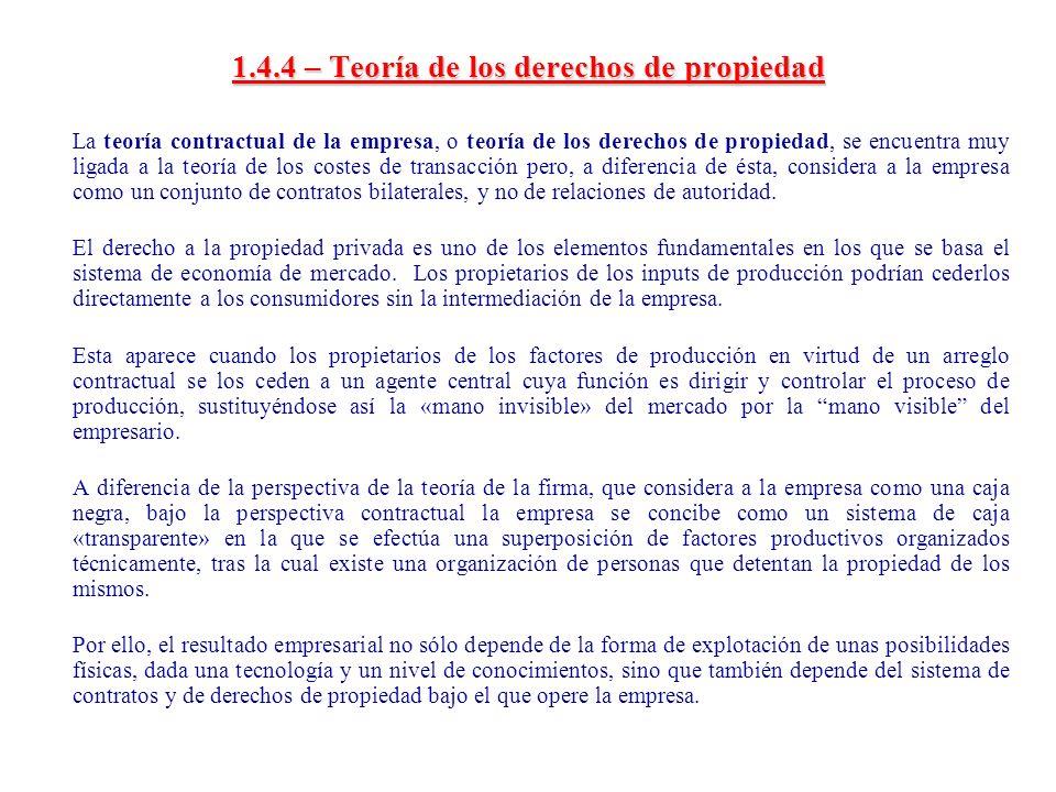 1.4.4 – Teoría de los derechos de propiedad