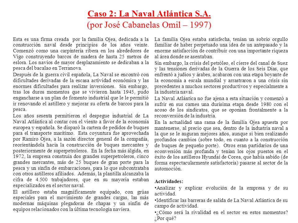 Caso 2: La Naval Atlántica S.A. (por José Cabanelas Omil – 1997)