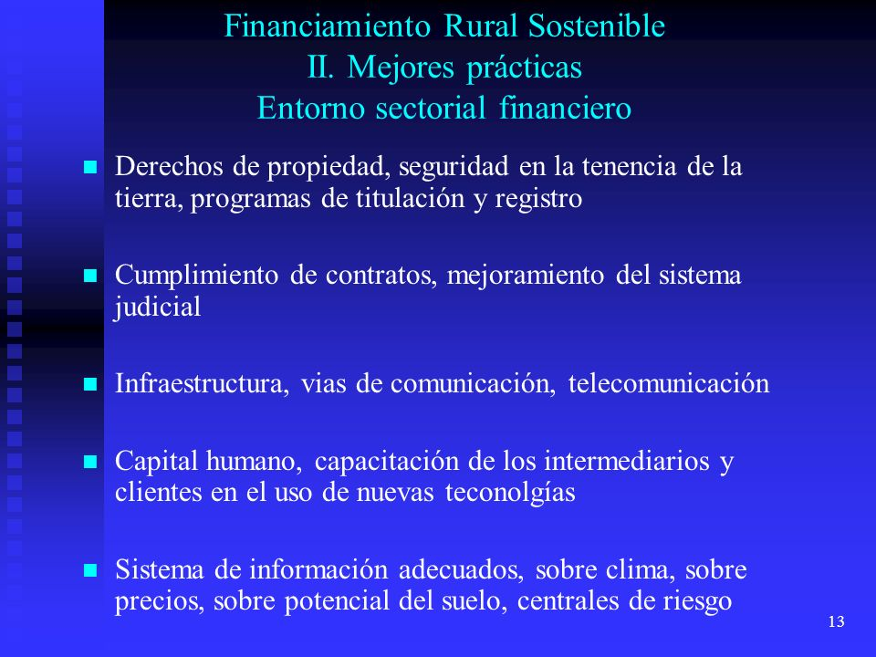 Financiamiento Rural Sostenible II