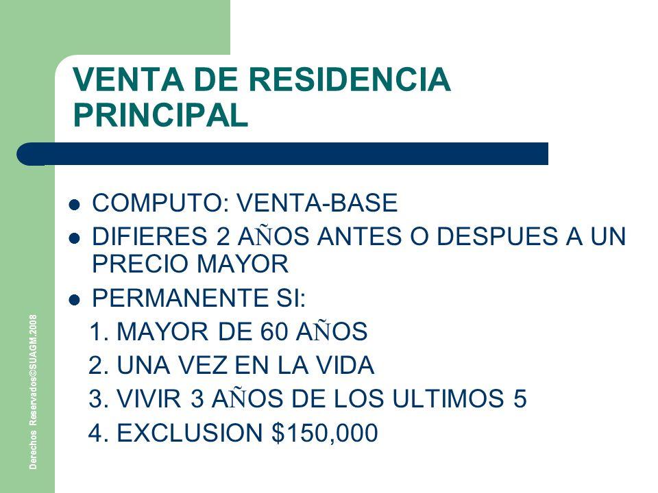 VENTA DE RESIDENCIA PRINCIPAL