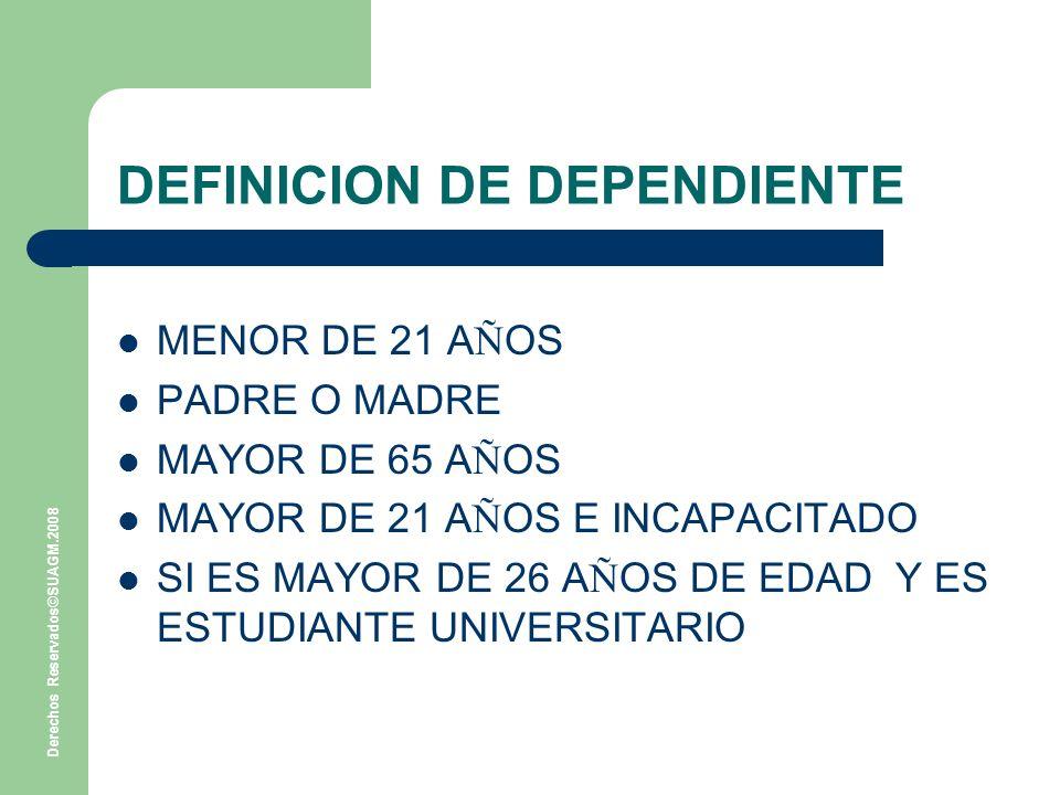 DEFINICION DE DEPENDIENTE