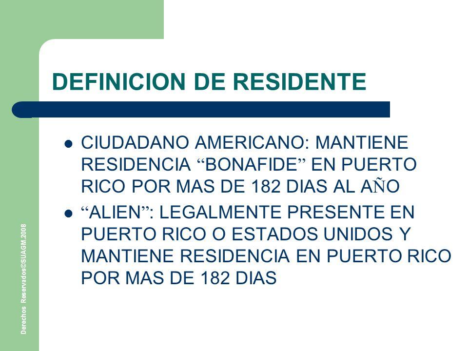 DEFINICION DE RESIDENTE