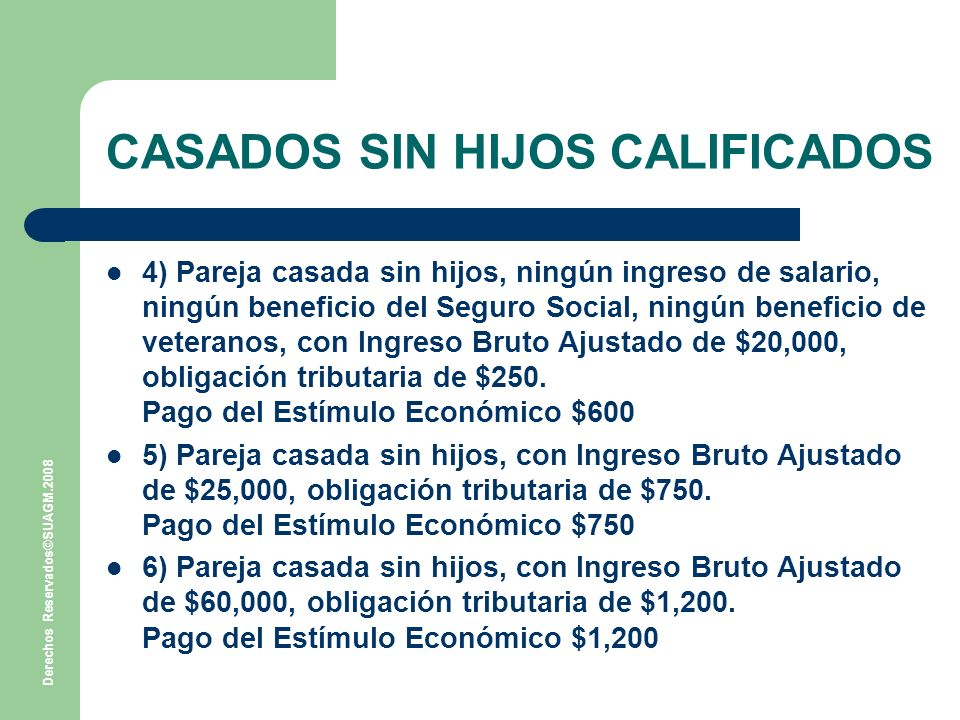 CASADOS SIN HIJOS CALIFICADOS
