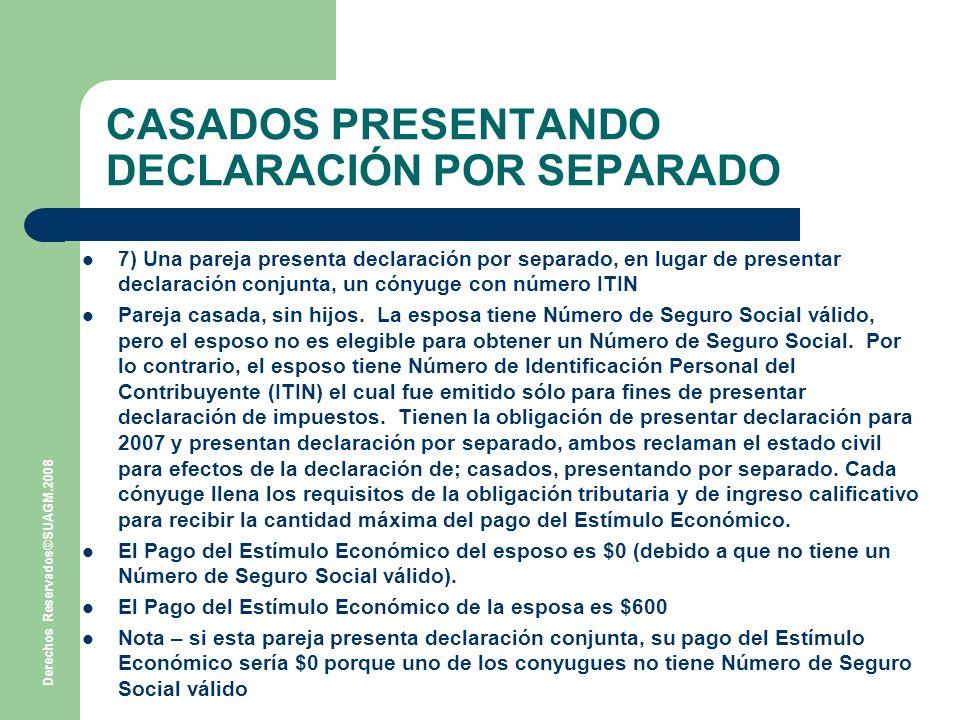 CASADOS PRESENTANDO DECLARACIÓN POR SEPARADO