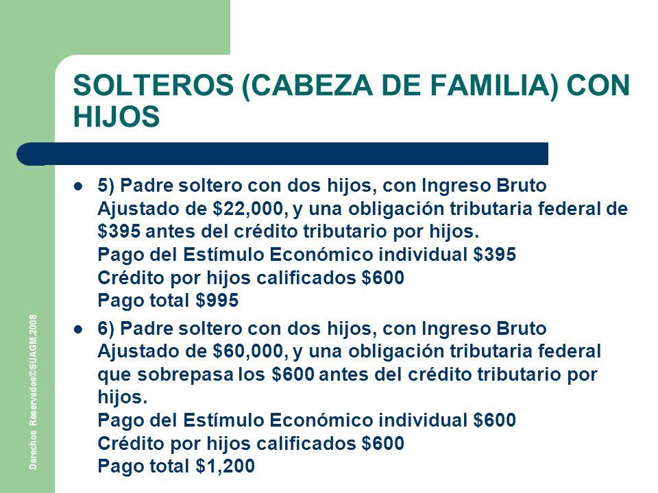 SOLTEROS (CABEZA DE FAMILIA) CON HIJOS